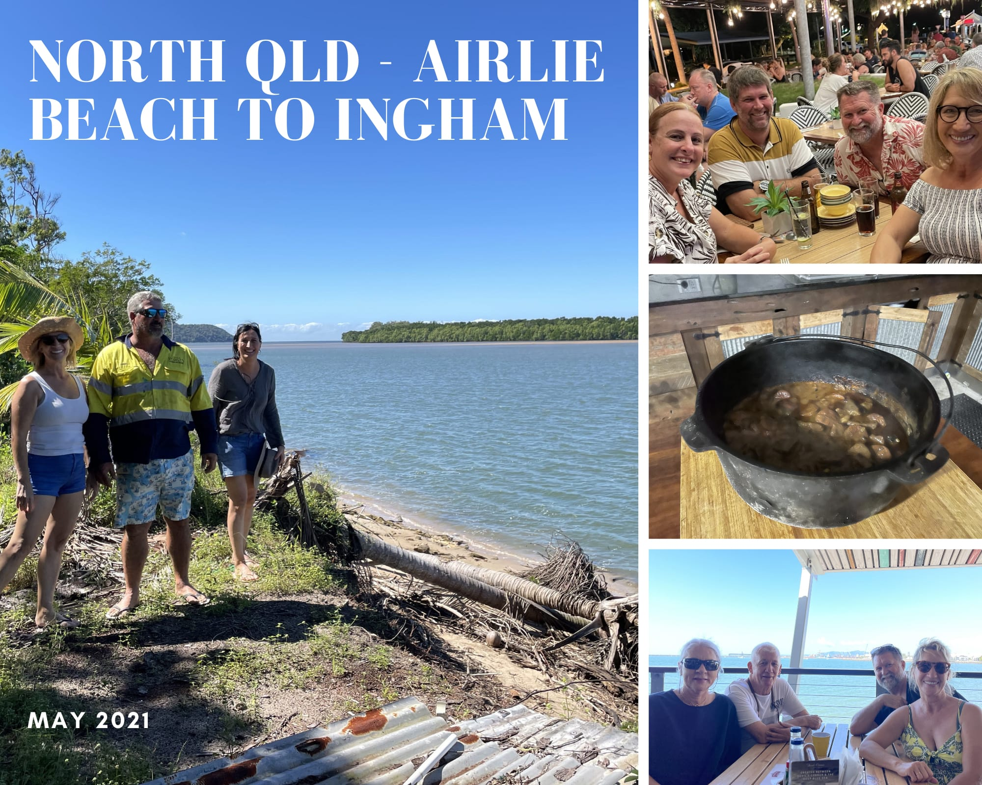 Photo collage of North Qld, Airlie Beach, Bowen, Townsville, Ingham