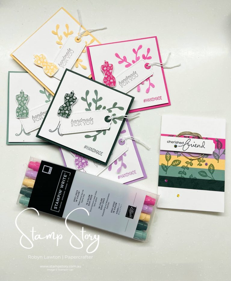 How I made these Cute Little Note Cards with the Stampin' Up! New 2021-23 In Colours