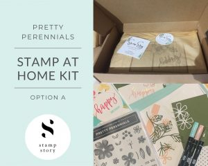 Stamp Story - Stamp at Home Kit - Pretty Perennials - Option A