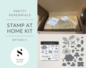 Stamp Story - Stamp at Home Kit - Pretty Perennials - Option C