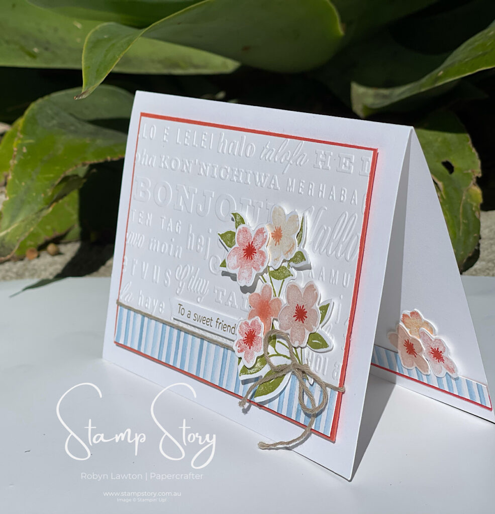 Card made with Sweet as a Peach Bundle